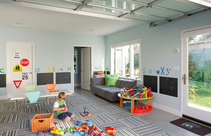 cómo transformar un sótano en una sala de juegos para niños