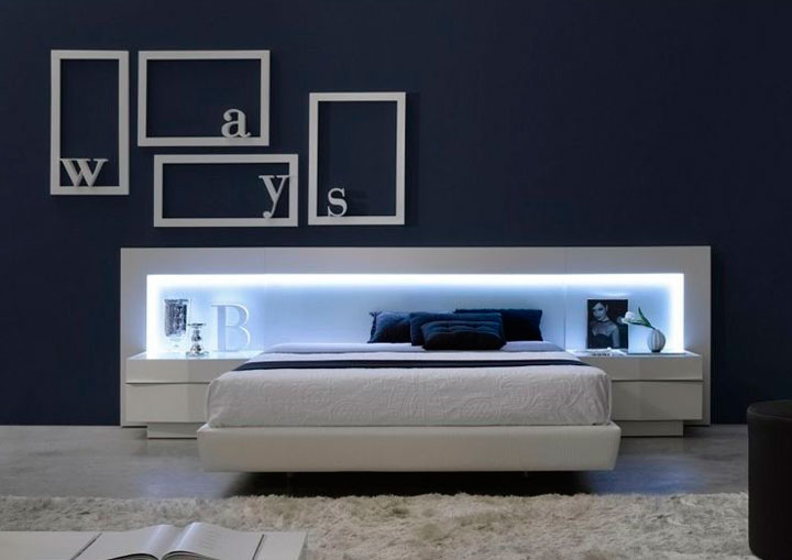 How to decorate the bedroom with led strips