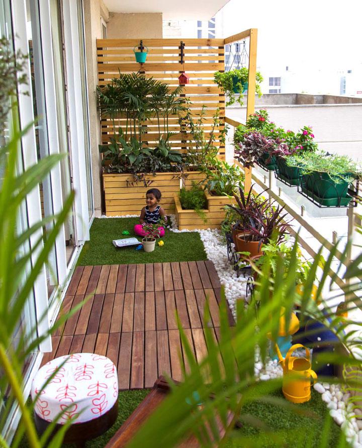 Ideas de jardines en balcones de pisos