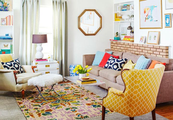 Decoración ecléctica en casa con texturas