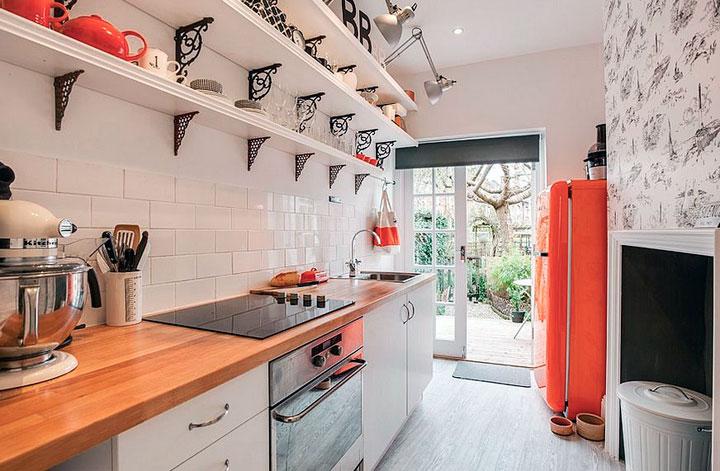 Cocinas pequeñas eclécticas fotos