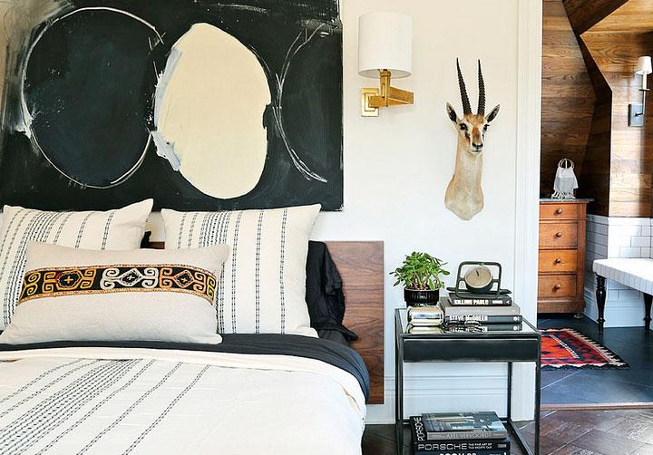 Uso del color en decoración de dormitorios eclécticos