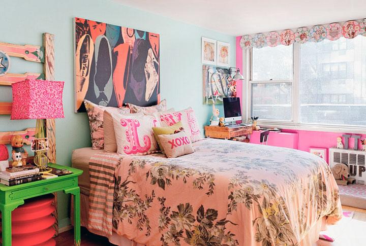 Combinar colores en habitaciones eclécticas