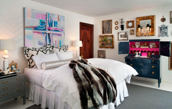 Decoración ecléctica de dormitorios fusionando estilos