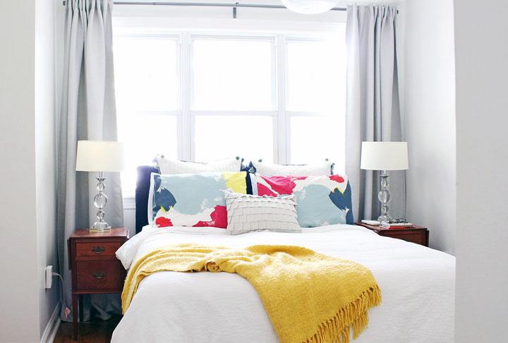 Dormitorio de decoración ecléctica moderna