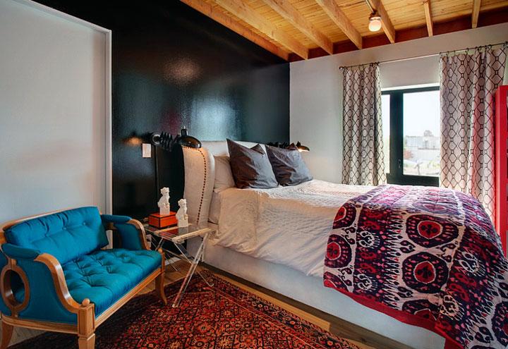 Estilos de decoración ecléctica en dormitorios pequeños