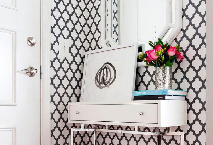 Recibidor ecléctico pequeño ideas decoración