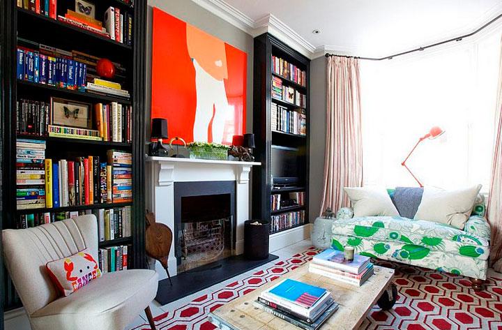 salones estilo ecléctico combinaciones de color