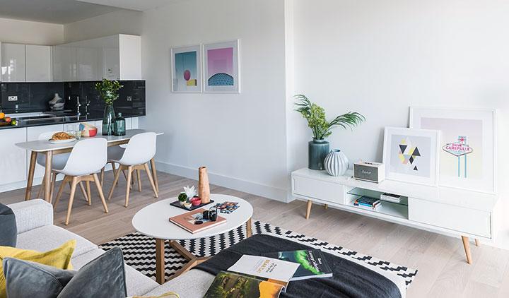 Ideas de decoración ecléctica moderna en un piso