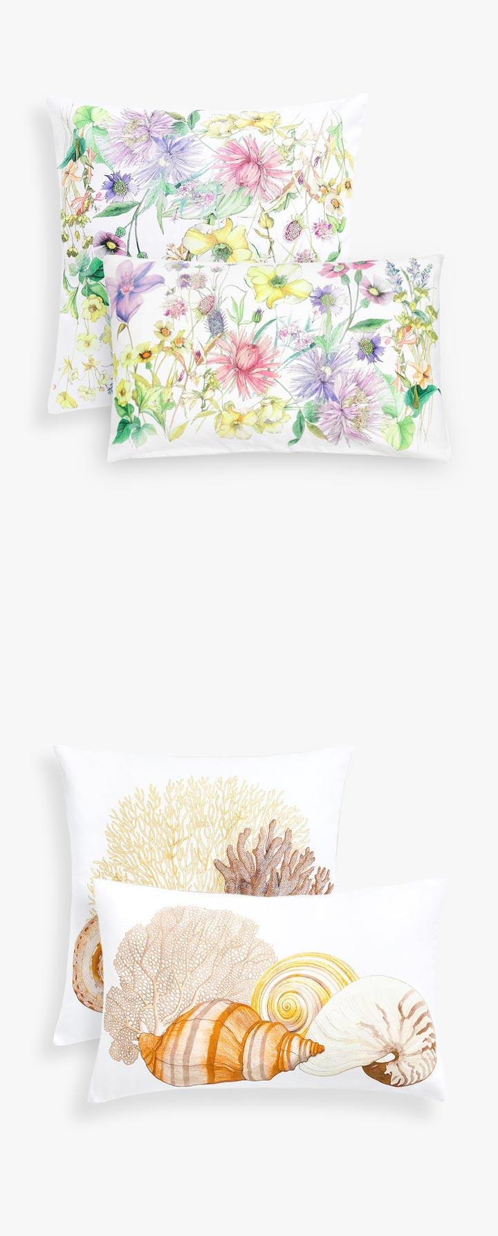 Cojines de dormitorio Zara Home últimas tendencias