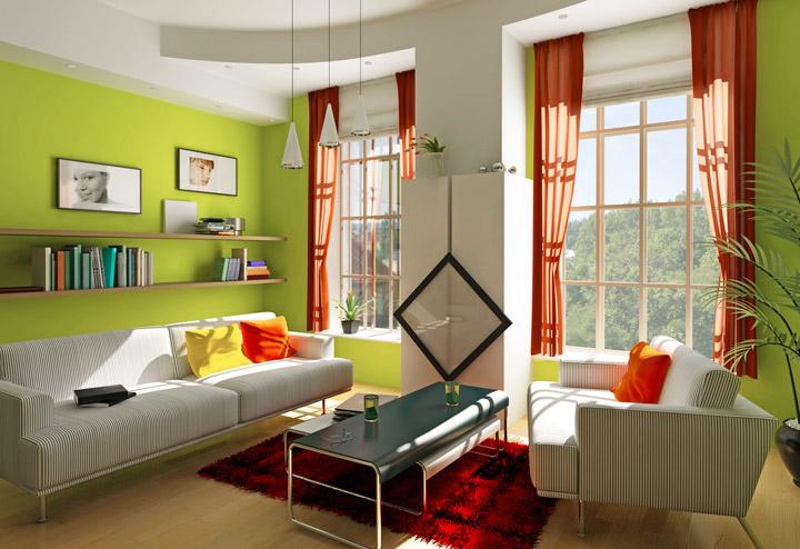 Colores que combinan con verde en decoración y paredes