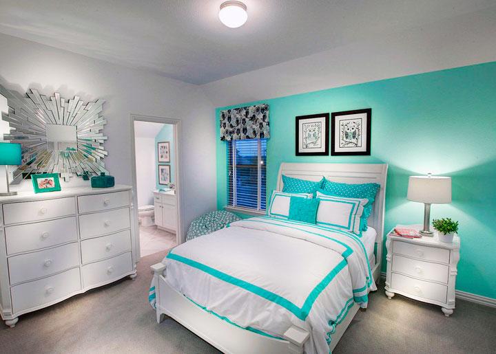 Combinar color verde y blanco en decoración de paredes