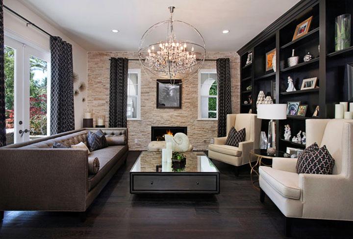 Colores que combinan con marrón y blanco diseño de interiores