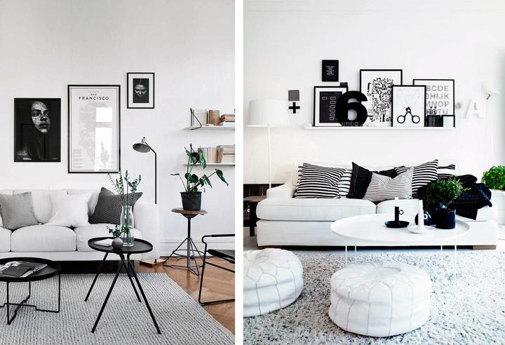 Decoración Black&White con contrastes