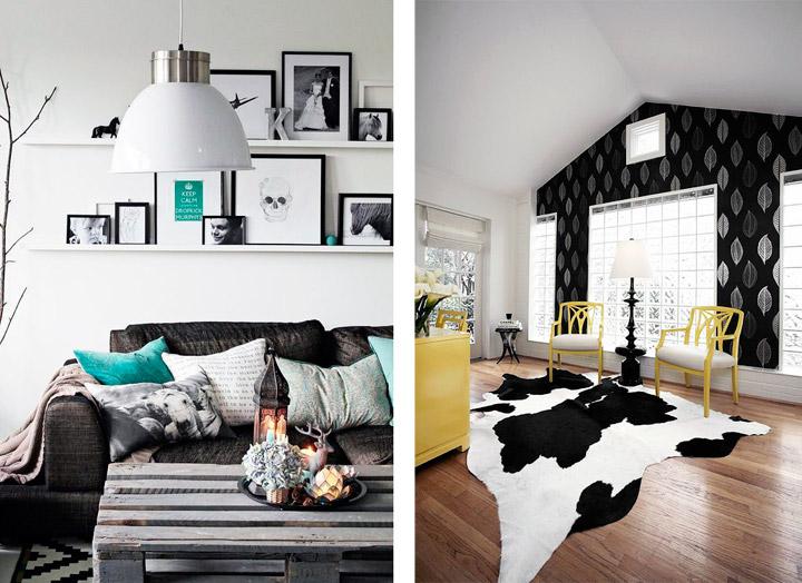 Decoración en blanco y negro con ideas para tu casa