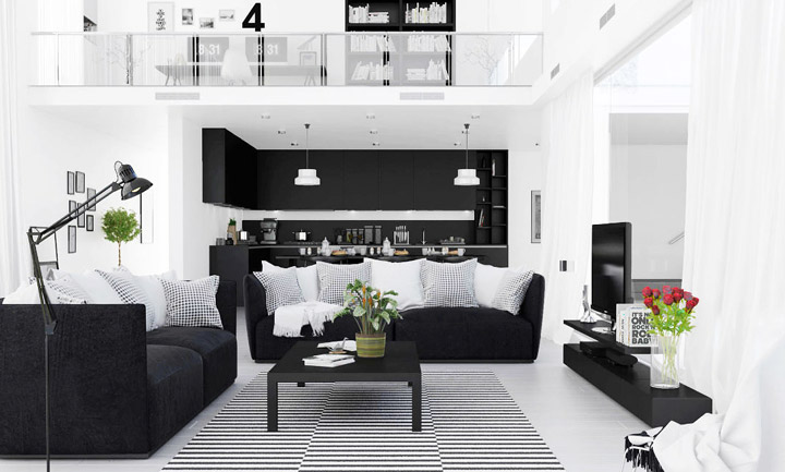 Decoración en Blanco y Negro con ideas y fotos