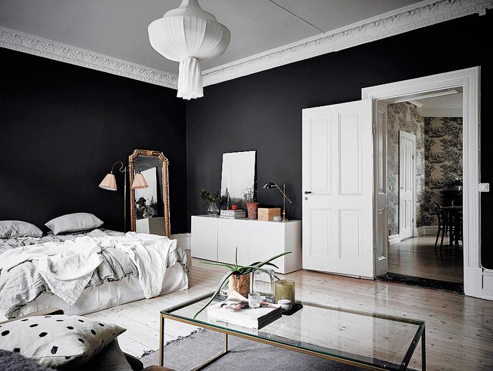 Pintar las habitaciones en blanco y negro