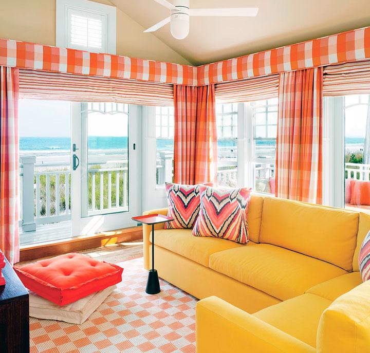 Cómo decorar con naranja y amarillo