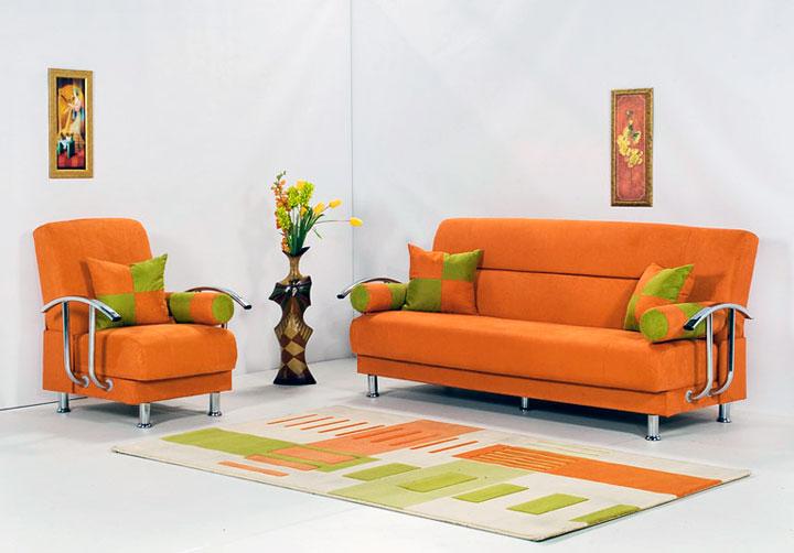 Combinación de color naranja y verde