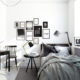 Decorar habitación en blanco y negro