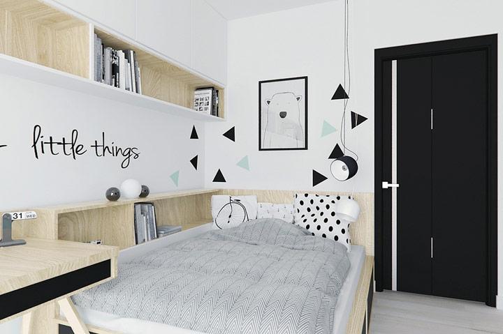 Ideas de habitaciones en blanco y negro infantiles