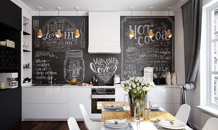 Cocinas en Blanco y Negro: Claves de Decoración