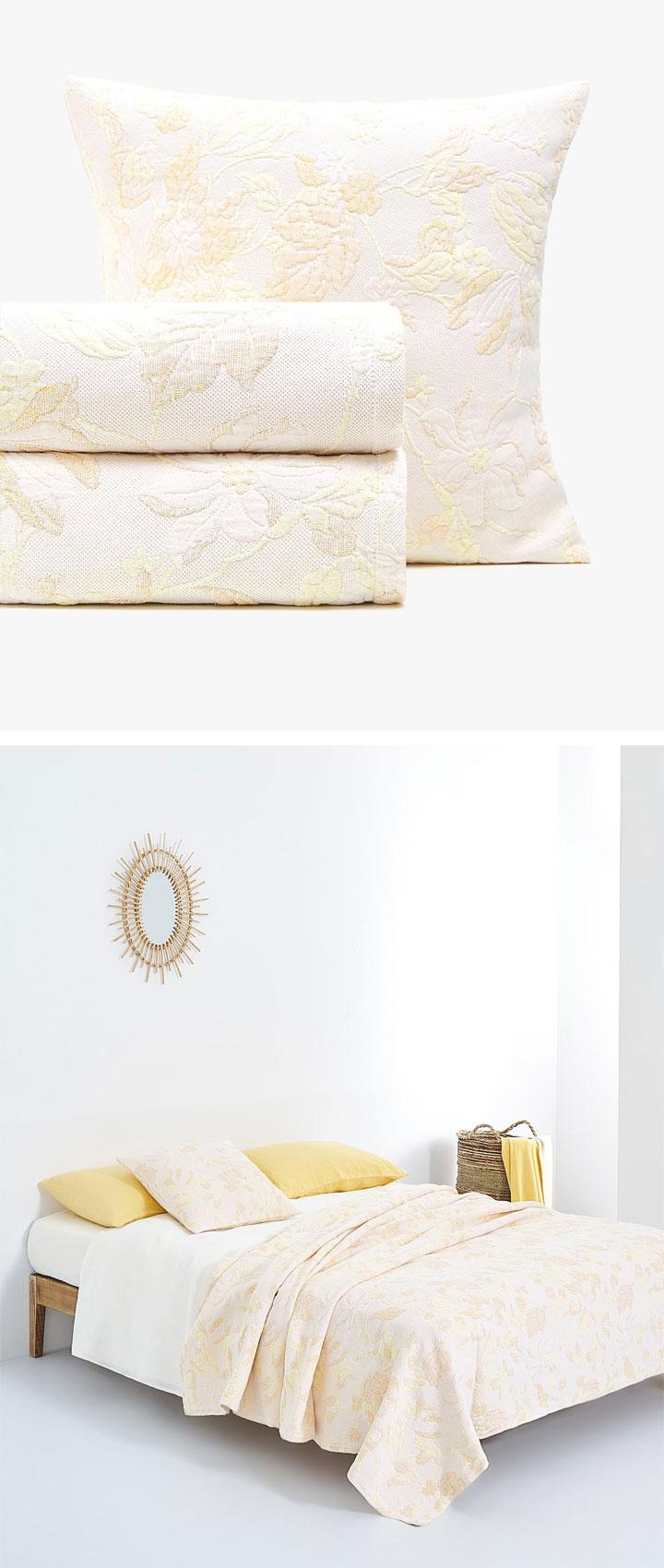 Colchas Zara Home para cama de matrimonio