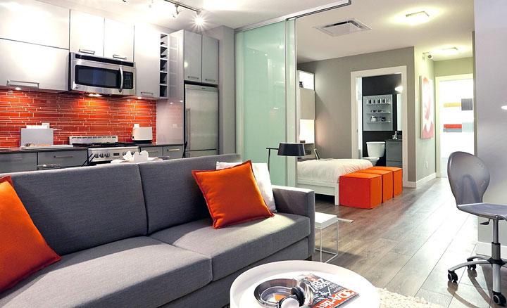 Colores para decorar con gris y naranja