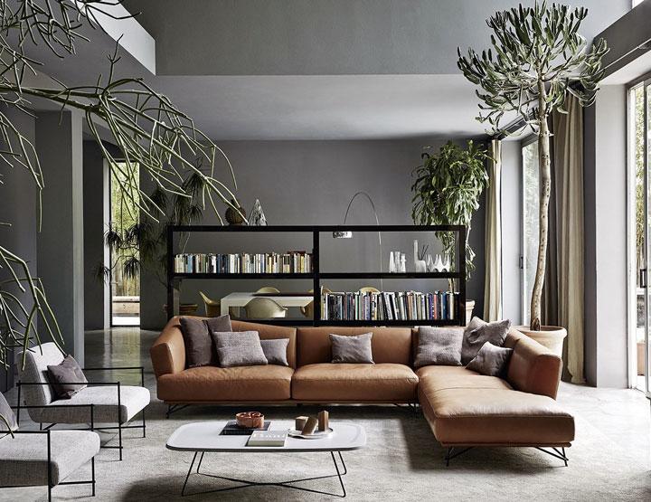 Combinar el gris en decoración con el marrón