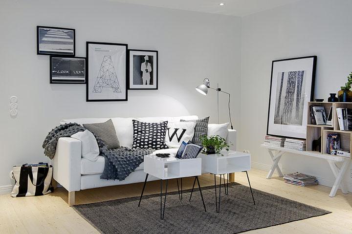Cómo decorar con gris y blanco