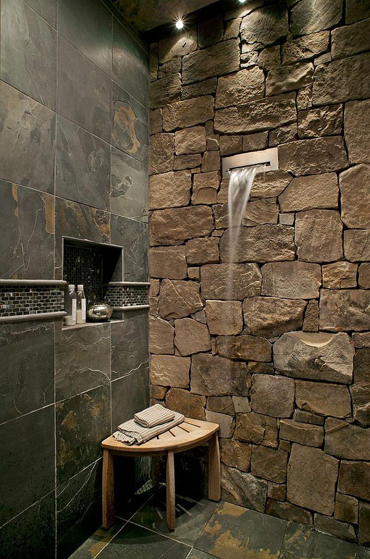 Cómo iluminar las paredes de piedra