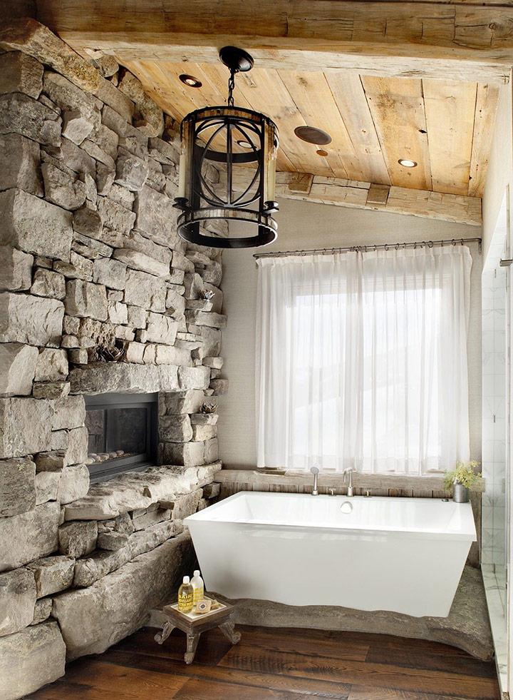 Cómo decorar paredes de piedra rústica