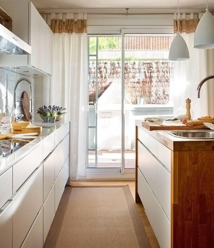 Cortinas de cocina para puertas ideas de decoración