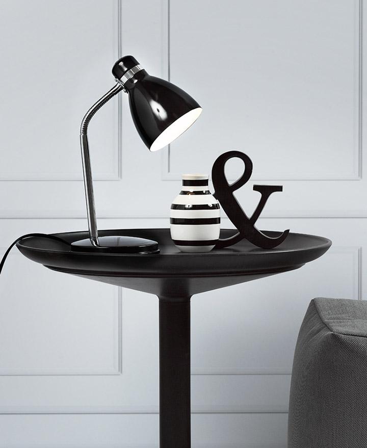 Flexos como lámparas de mesa para el hogar