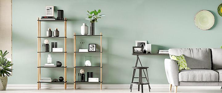 Muebles de estilo industrial marca Songmics para el salón