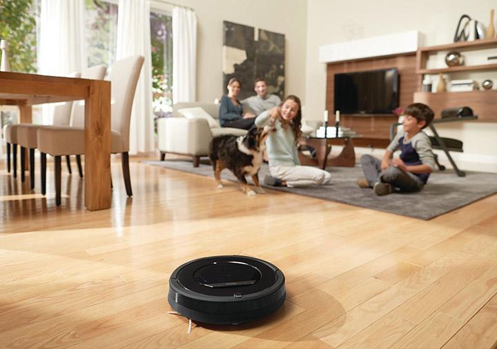 Robot aspirador para limpiar el suelo