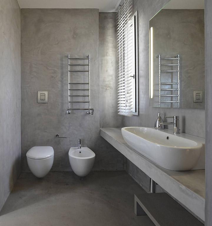 Ideas de alicatado de baños con microcemento
