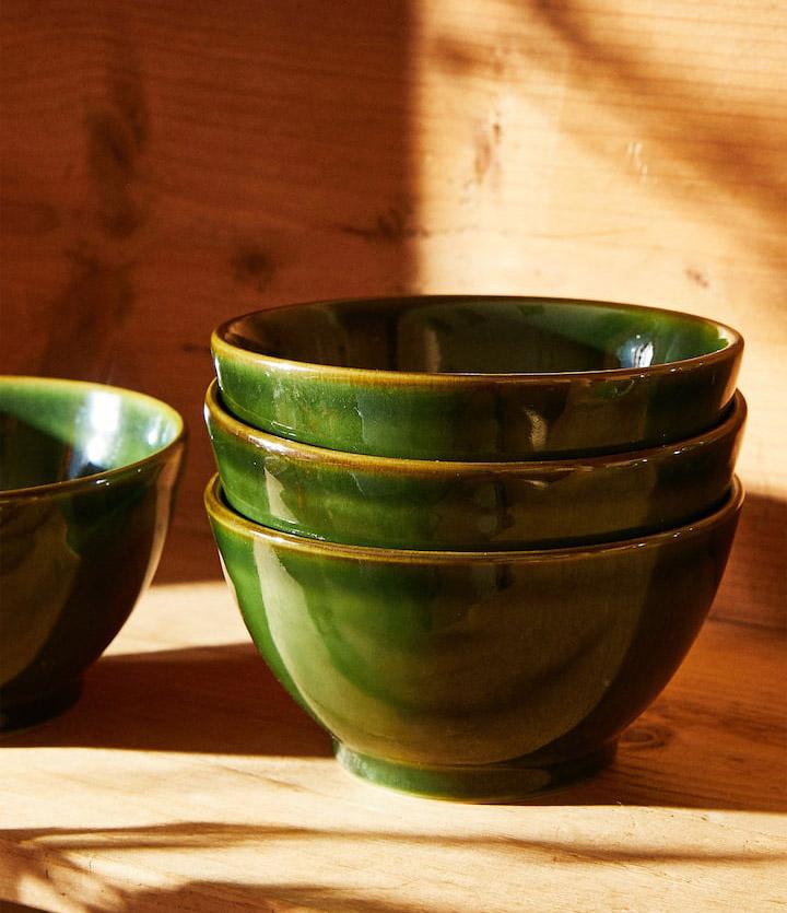 Cuencos y bols Zara Home de cerámica verde