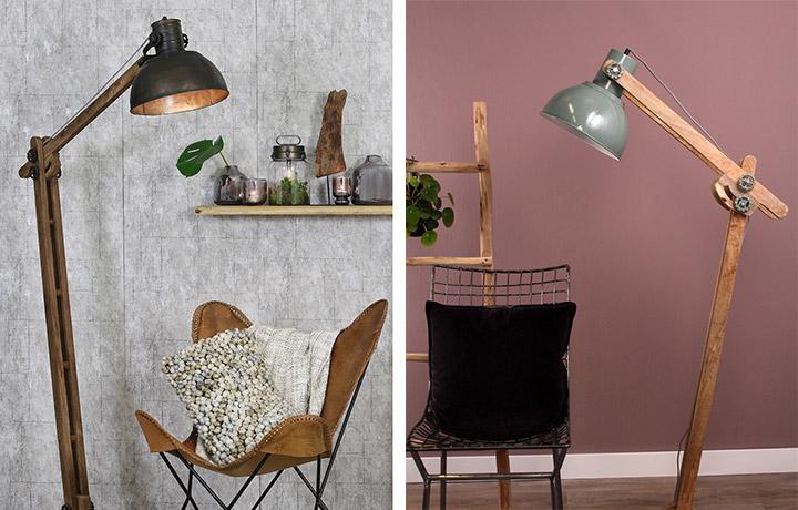 Trucos para elegir lámparas de madera de pie