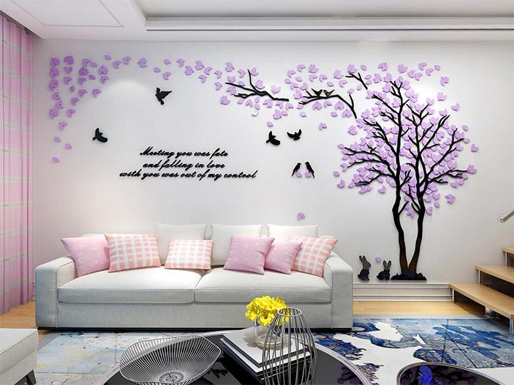 Cómo decorar paredes con vinilos adhesivos decorativos