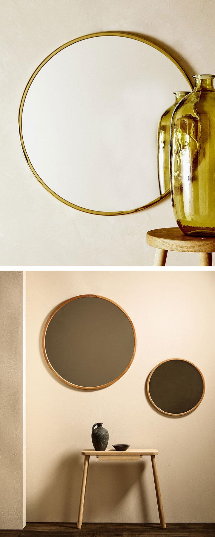 Espejos redondos Zara Home
