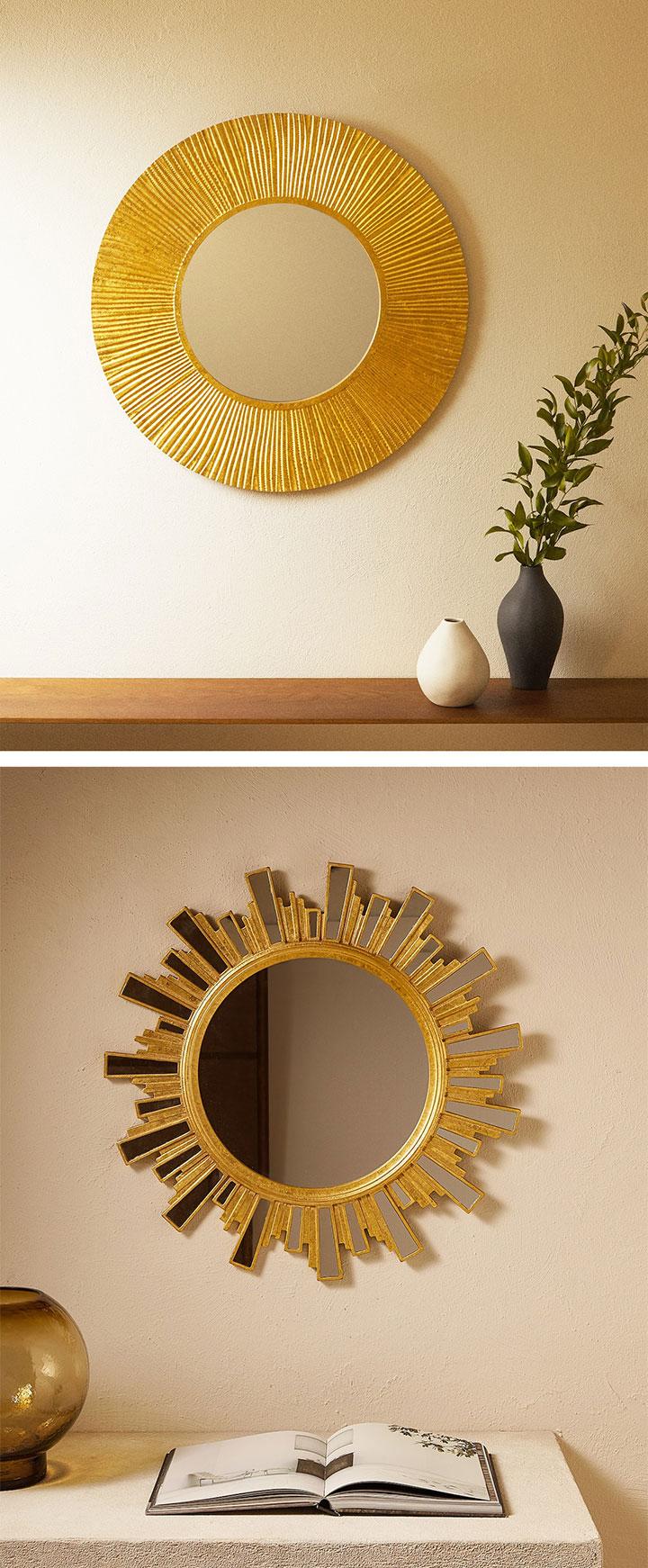 Espejos de sol dorados Zara Home