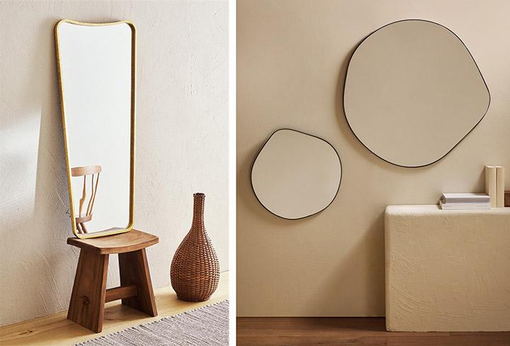 Espejos Zara Home: Todas las Formas y Colores