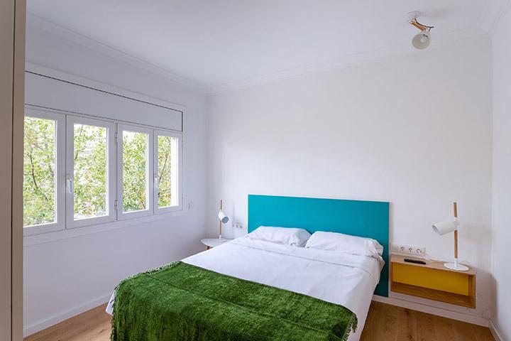 Reforma del dormitorio principal en un piso de Barcelona