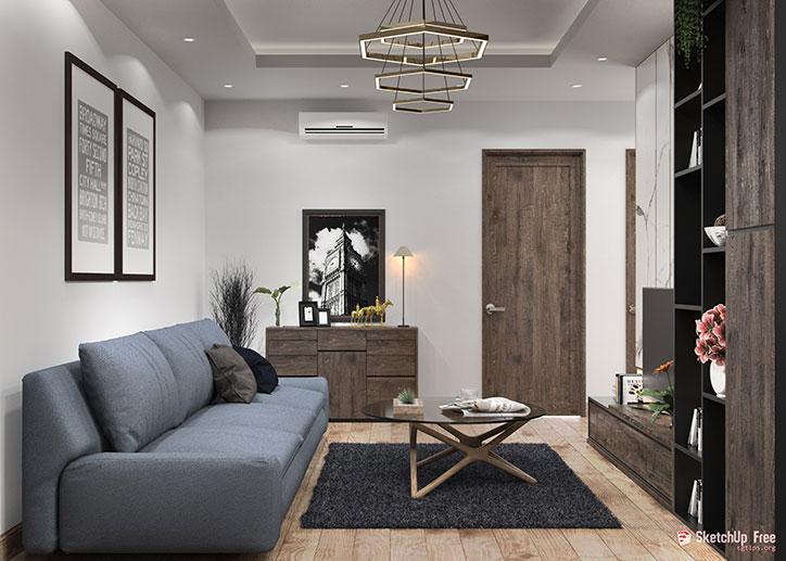 SketchUp diseño de interiores 3D