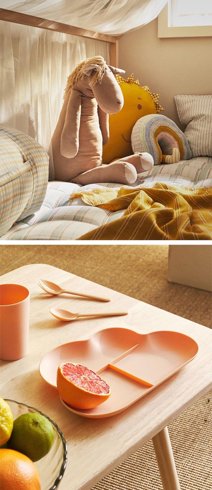 Zara Home vajillas y peluches para bebés