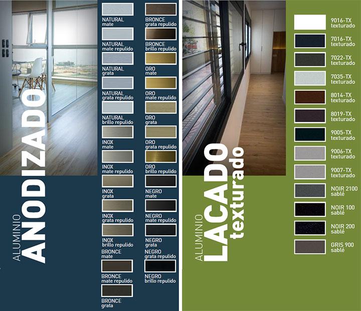 Colores y acabados en ventanas de aluminio