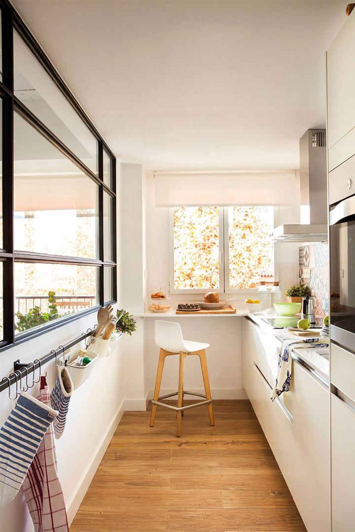 Cocinas modernas estrechas alargadas