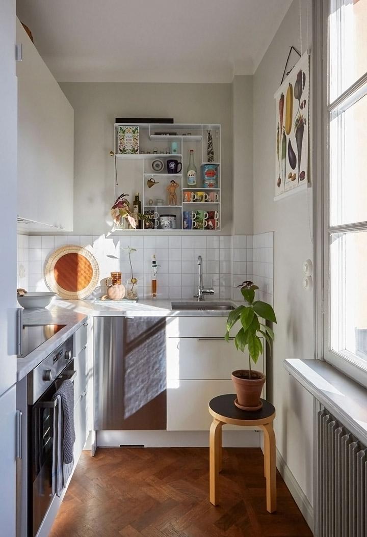Cocinas modernas pequeñas alargadas