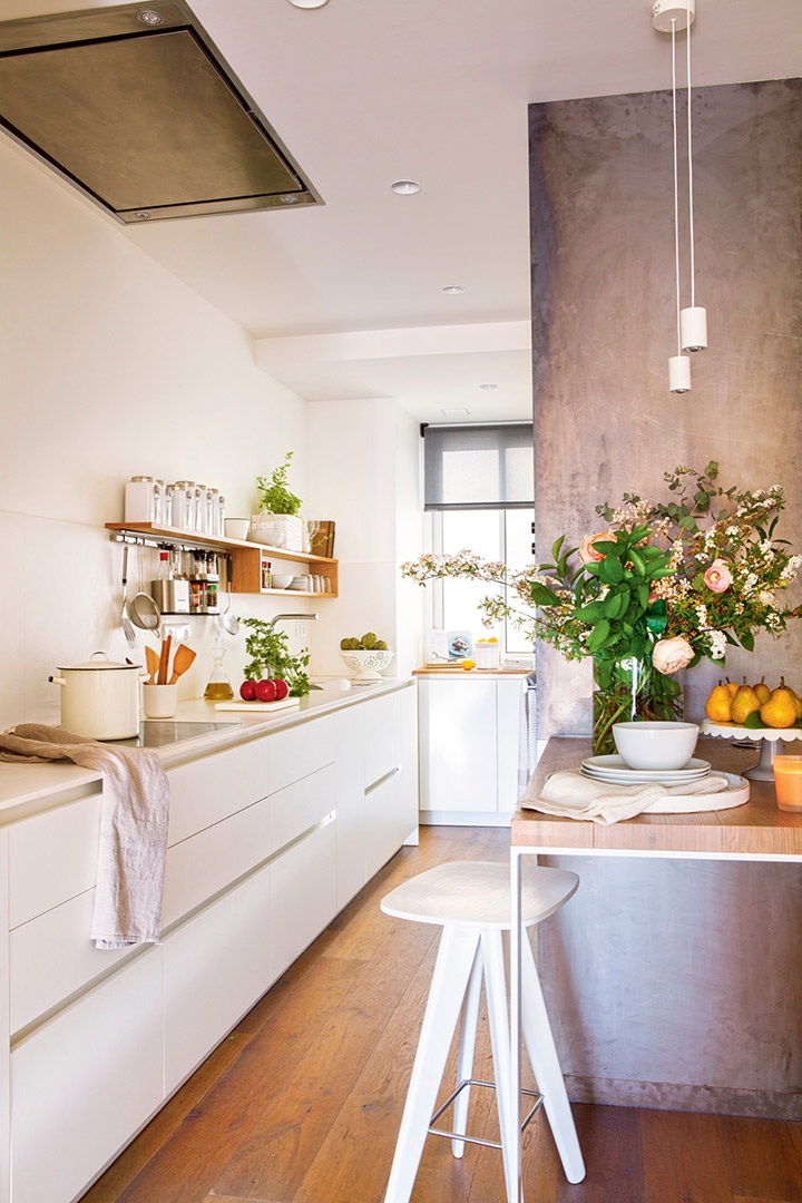 Cocinas modernas pequeñas con forma de L